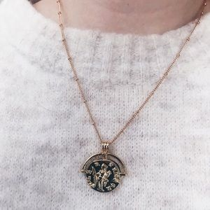 🔥Trend 2020🔥Greek Coin 18k Gold Plated Necklace